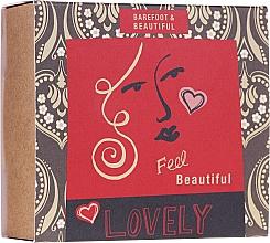 Духи, Парфюмерия, косметика Набор - Bath House Barefoot & Beautiful (f/mask/15g + bath salt/60ml + lip balm/15g)