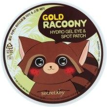 Парфумерія, косметика Гідрогелеві патчі для шкіри навколо очей з золотом - Secret Key Gold Racoony Hydrogel Eye Spot Patch