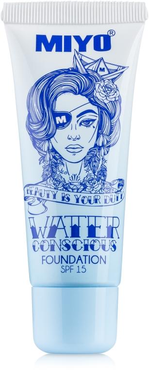 Тональный крем - Miyo Water Conscious Foundation SPF 15