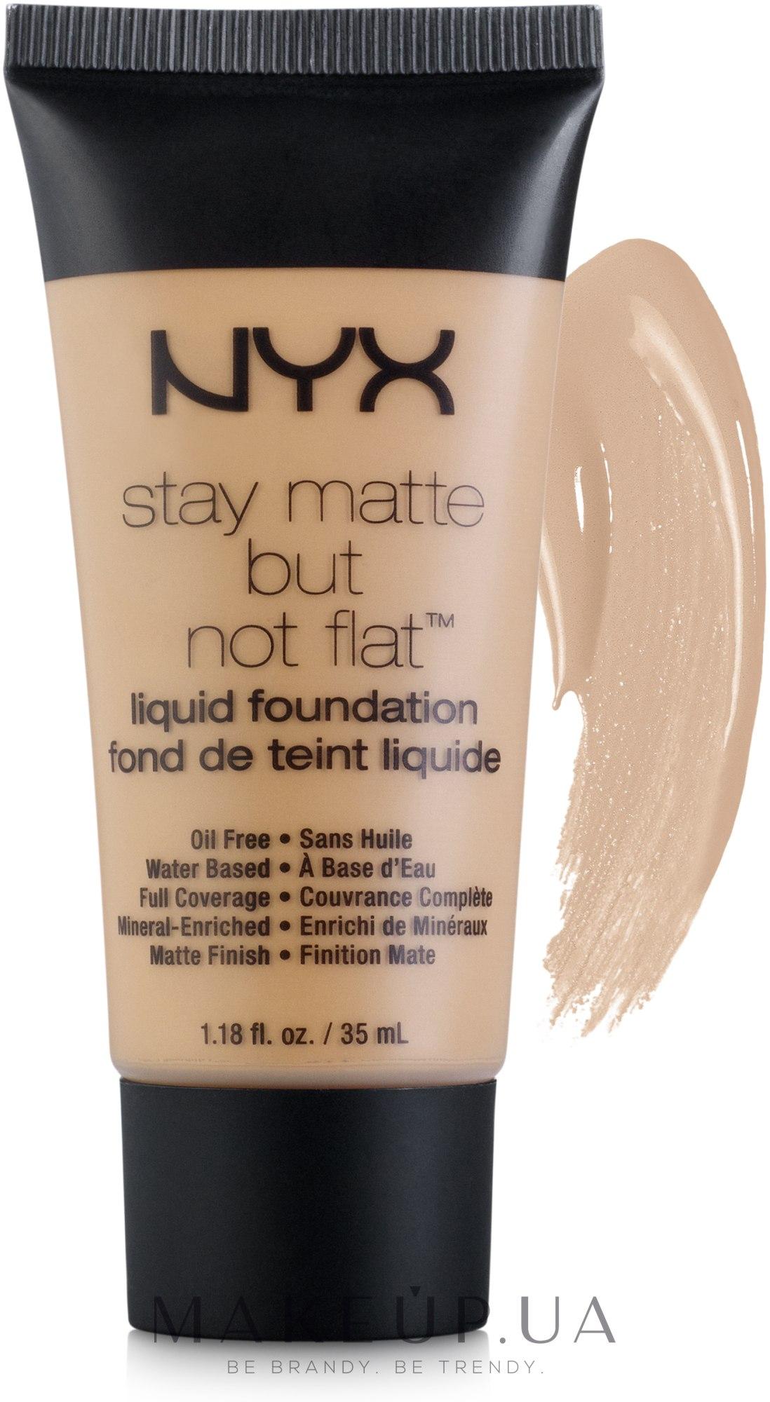 Тональная основа - NYX Professional Makeup Stay Matte But Not Flat Liquid Foundation — фото 07.5 - Fresh Beige