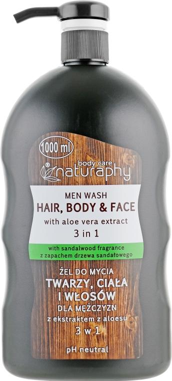 Гель-шампунь для тела и волос с алоэ вера для мужчин - Bluxcosmetics Naturaphy Men Wash Hair, Body And Face