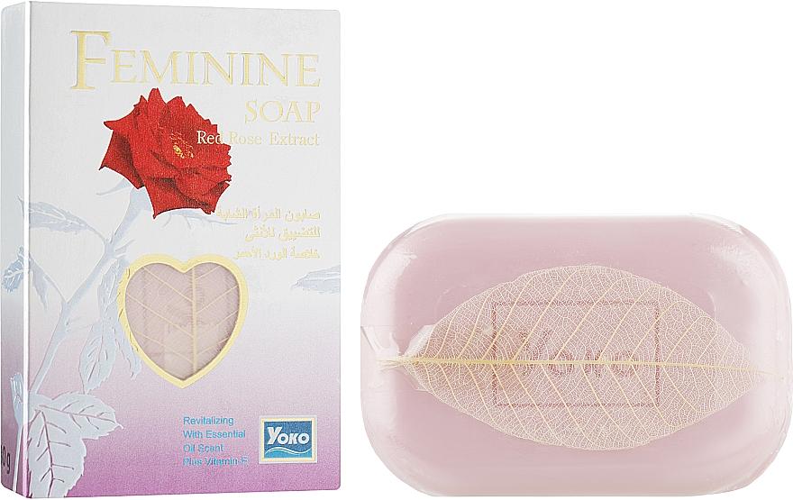 Мыло для интимной гигиены с маслом розы и витамином Е - Yoko Feminine Soap