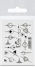 """Парфумерія, косметика Наклейки для нігтів """"Комбі"""", Di861 - Divia"""