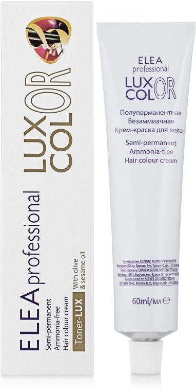 """Полуперманентная безаммиачная крем-краска для волос """"Тонер-LUX"""" - Elea Professional Luxor Color"""