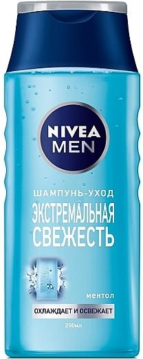 """Шампунь для мужчин """"Экстремальная свежесть"""" - Nivea For Men Cool Fresh Mentol Shampoo"""