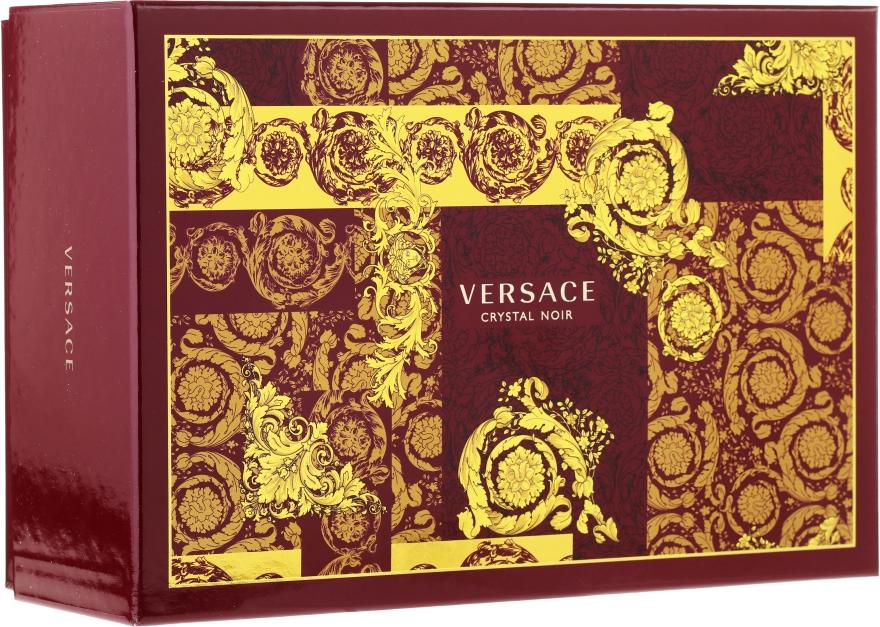 Versace Crystal Noir - Набор (edt/90ml + edt/10ml + pounch)