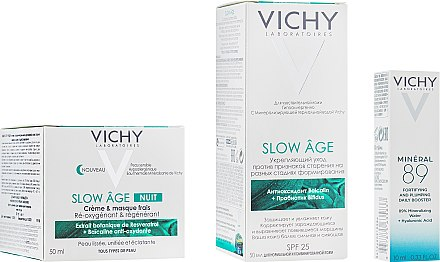 Набор - Vichy Slow Age Set (fluid/50ml + night/mask/50ml + gel/10ml) — фото N2