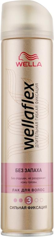 Лак для волос без запаха сильной фиксации - Wella Wellaflex Fragrance-Free Strong Hold Hair Spray