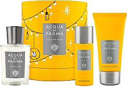 Парфумерія, косметика Acqua Di Parma Colonia Pura - Набір (edc/100ml + sh/gel/75ml + deo/50ml)