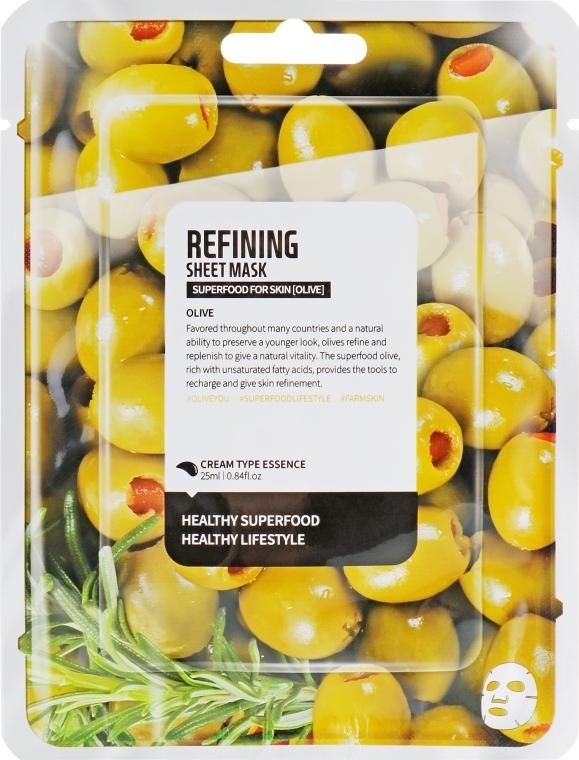 "Тканевая маска для лица ""Олива"" - Superfood For Skin Refining Sheet Mask"