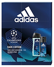 Духи, Парфюмерия, косметика Adidas UEFA Dare Edition - Набор (sh/gel/250ml + deo/spray/150ml)