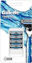 Парфумерія, косметика Змінні касети для гоління, 4 шт. - Gillette Mach3 Start