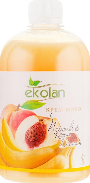 """Крем-мыло """"Персик-Банан"""" - Ekolan (сменный блок)"""