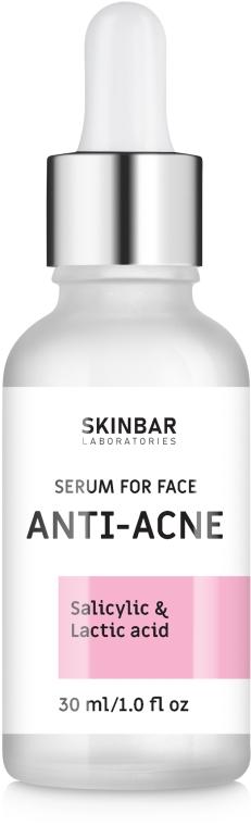 "Сыворотка против акне с молочной и салициловой кислотами ""Anti-Acne"" - SKINBAR Salicylic + Lactic acid Anti-Acne Face Serum"
