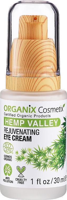 Омолаживающий крем для кожи вокруг глаз - Organix Cosmetix Hemp Valley Rejuvenating Eye Cream