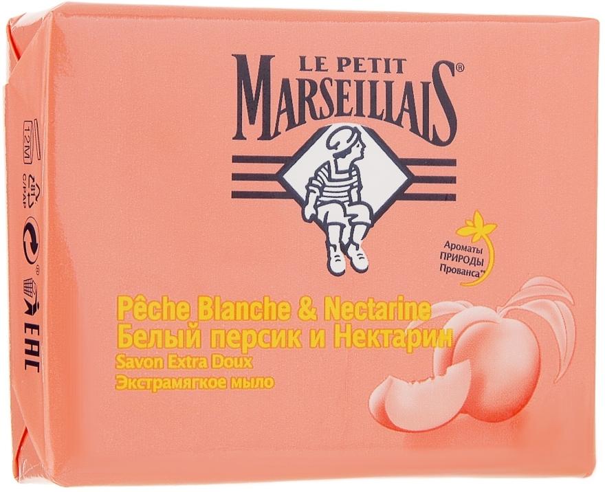 Экстрамягкое мыло «Белый персик и нектарин» - Le Petit Marseillais Savon Extra Doux Amande Douce