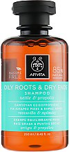 Духи, Парфюмерия, косметика Шампунь для жирных корней и сухих секущихся кончиков с прополисом и крапивой - Apivita Shampoo For Oily Roots And Dry Ends With Nettle & Propolis