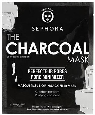 Тканевая маска для лица с углем - Sephora The Charcoal Mask — фото N1