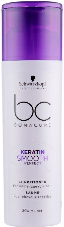 Кондиционер для гладкости волос - Schwarzkopf Professional BC Bonacure Keratin Smooth Perfect Conditioner