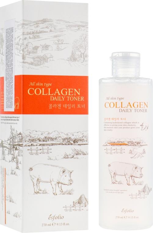 Коллагеновый тонер - Esfolio Collagen Daily Toner