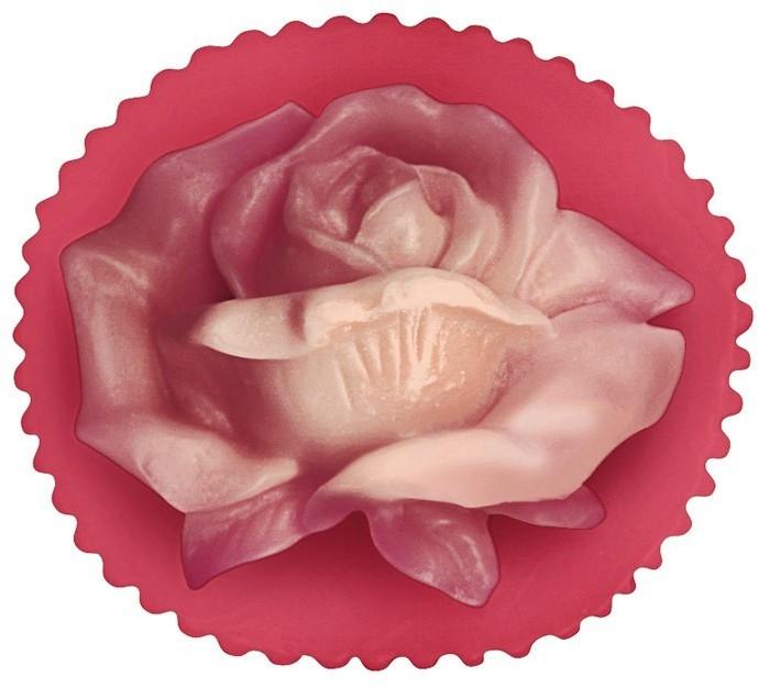 """Глицериновое мыло """"Цветок розы"""", красное - Bulgarian Rose Glycerin Fragrant Soap Rose Valley"""