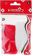 Духи, Парфюмерия, косметика Набор резинок для волос, 7583, 2шт, белая + красная - Reed