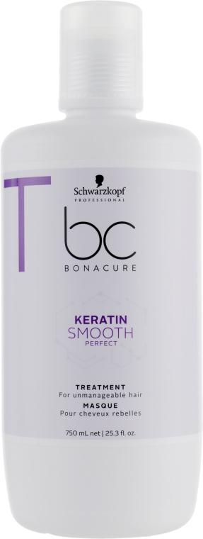 Маска для гладкости волос - Schwarzkopf Professional BC Bonacure Keratin Smooth Perfect Treatment