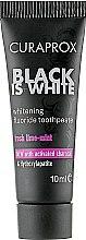Духи, Парфюмерия, косметика Зубная паста с активированным углем, черная - Curaprox Black Is White (мини)
