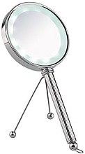 Духи, Парфюмерия, косметика Двухстороннее настольно-ручное зеркало с LED-подстветкой - Sibel Vaduz LED