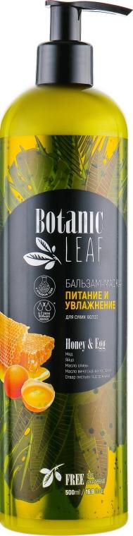 """Бальзам-маска для сухих волос """"Питание и увлажнение"""" - Botanic Leaf Honey & Egg"""