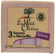 Духи, Парфюмерия, косметика 3 традиционных мыла Лаванда - Le Petit Olivier 3 traditional Marseille soaps Lavender