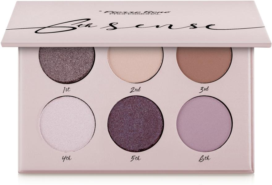 Палетка теней для век, 6 цветов - Pierre Rene 6th Sense Eyeshadow Palette