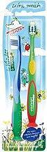 Духи, Парфюмерия, косметика Зубная щетка для детей, 0-6 лет, синяя+зеленая - Elkos Tabaluga Kinder
