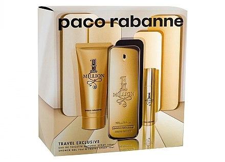 Paco Rabanne 1 Million - Набор (edt/100ml + edt/10ml + sh/gel/75ml)