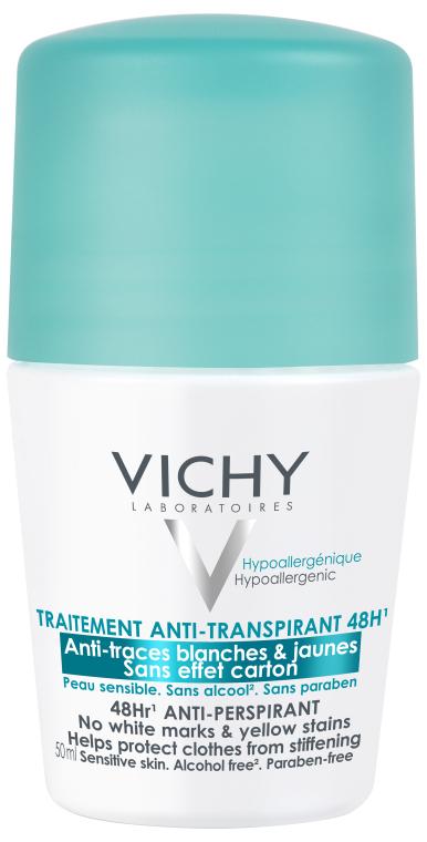"""Шариковый дезодорант-антиперспирант """"48 часов. Против белых следов и желтых пятен"""" - Vichy Anti-Transpirant 48H2"""