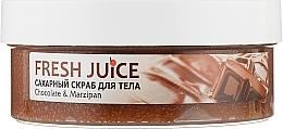 Духи, Парфюмерия, косметика Сахарный скраб для тела - Fresh Juice Chocolate and Marzipan