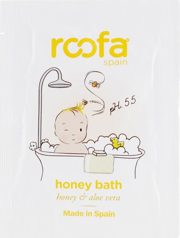 Гель-пенка для ванны с ароматом меда - Roofa Honey Bath Gel (пробник)