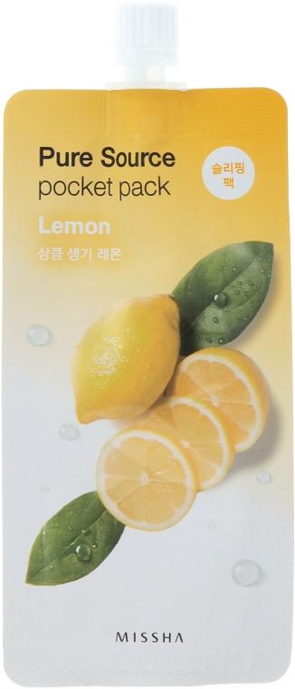 Ночная маска с экстрактом лимона - Missha Pure Source Pocket Pack Lemon