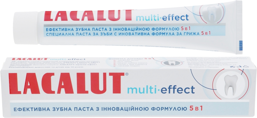 "Зубная паста ""Мульти-эффект"" - Lacalut Multi-Effect Toothpaste"