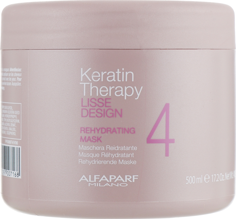 Маска для волос, увлажняющая - Alfaparf Lisse Design Keratin Therapy Rehydrating Mask