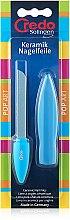Духи, Парфюмерия, косметика Керамическая пилка в чехле трехсторонняя, голубая - Credo Solingen Pop Art