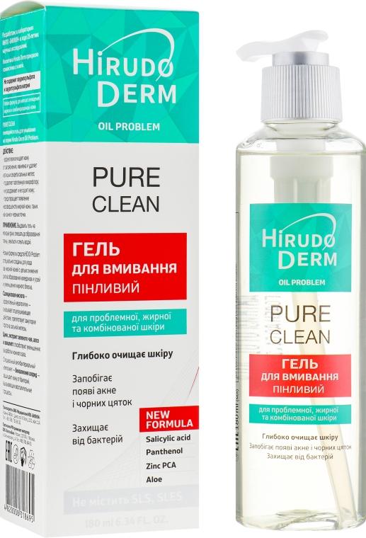 Пенящийся гель для умывания - Hirudo Derm Pure Clean