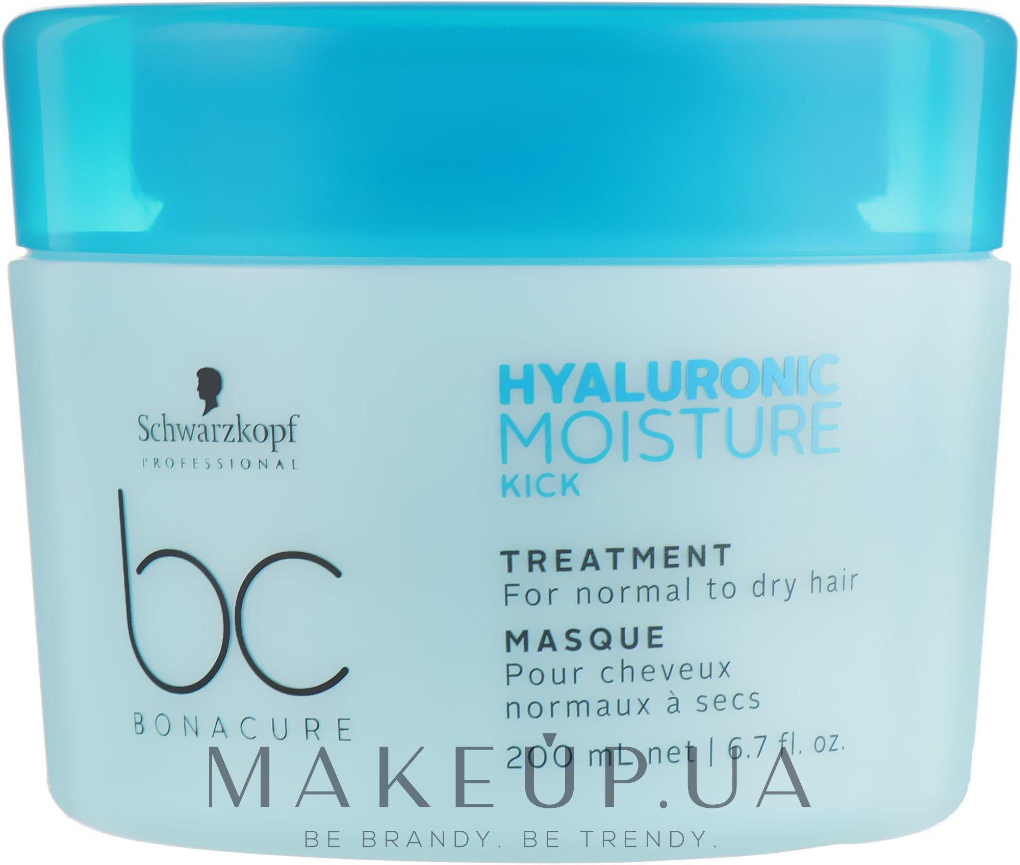 Маска-уход для волос увлажняющая - Schwarzkopf Professional Bonacure Hyaluronic Moisture Kick Treatment — фото 200ml