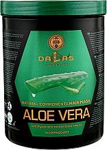Духи, Парфюмерия, косметика Маска для волос с гиалуроновой кислотой, натуральным соком алоэ и маслом чайного дерева - Dallas Cosmetics Aloe Vera Hair Mask