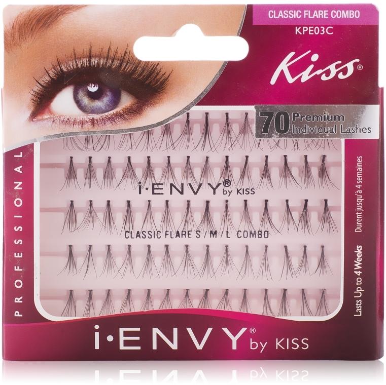 "Накладные пучки ""Классика"" - Kiss IEnvy Individual Lashes Classic Combi Black"