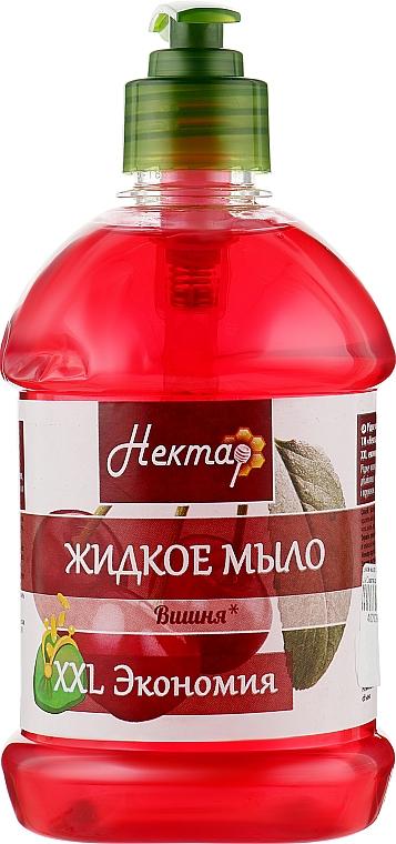 """Жидкое мыло с дозатором """"Вишня"""" - Aqua Cosmetics Нектар"""
