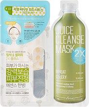 "Духи, Парфюмерия, косметика Двухфазная маска для лица ""Пшеница и сельдерей"" - Ariul Juice Cleanse 2X Plus Mask Pack Wheat & Celery"