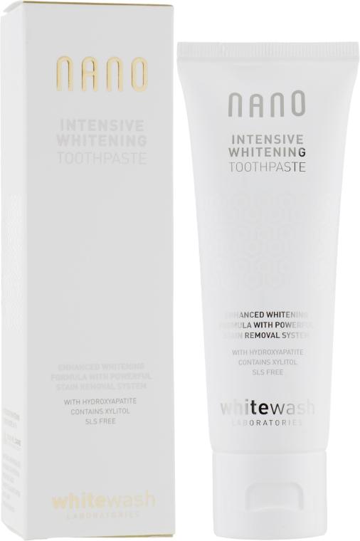 """Отбеливающая зубная паста """"Интенсивное отбеливание с гидроксиапатитом"""" - WhiteWash Laboratories Nano Intensive Whitening Toothpaste"""