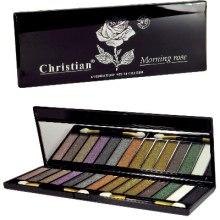 Духи, Парфюмерия, косметика Палетка теней для век - Christian Morning Rose Eyeshadow Palette