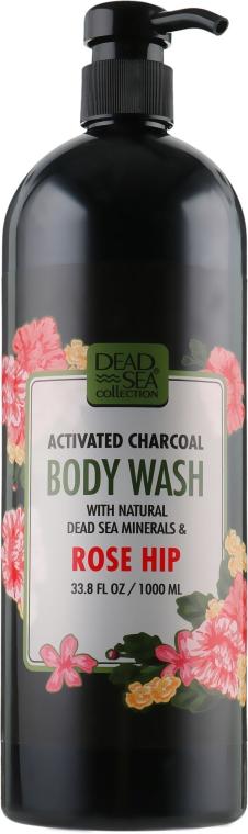 Гель для душа с активированным углем и шиповником - Dead Sea Collection Activated Charcoal Body Wash Minerals Rose Hip